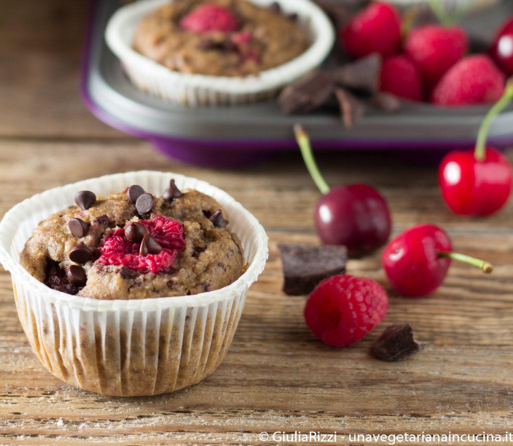 muffin sugarfree ciliegie lamponi
