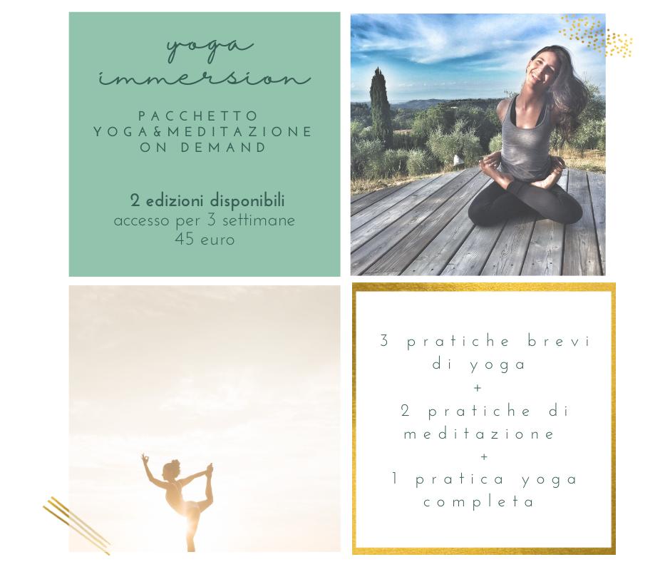 pacchetto yoga on demand yoga immersion